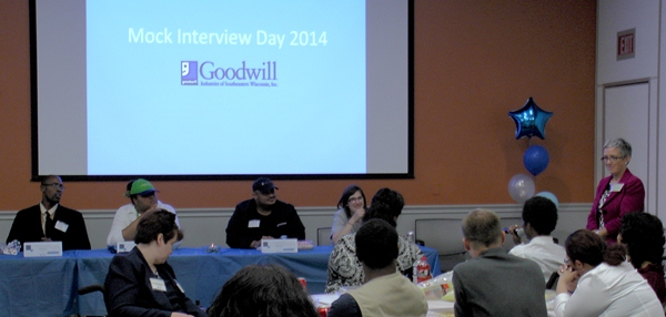 Mock Interview Day 2014 at Goodwill