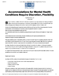 Accommodations-MH-Conditions-Require-Discretion-Flexibility-SHRM