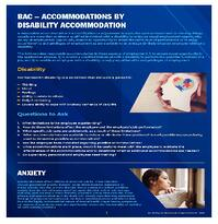 BAC - Accommodations by Disability