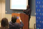 Donald Driver giving words of advice to the Donald Driver Mentoring program mentees.