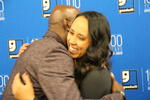 Donald Driver congratulating one of the Goodwill mentees of this year's Donald Driver Mentoring program