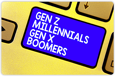 For the first time in modern history the workforce is comprised of four distinct generations: Baby Boomers, Generation X, Millennials and Generation Z.