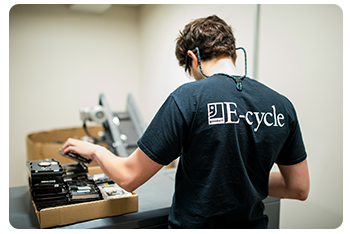 E-cycle lives up to our 100 year commitment of reusing and repurposing items in an effort to keep them out of the landfills.