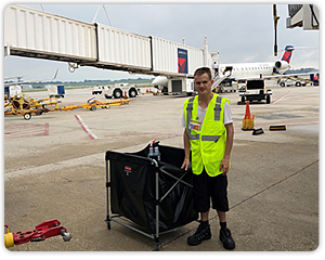 Anthony was one of our interns who participated in the Airport program. He is now employed at two airport vendors: Eulen and Quantum!