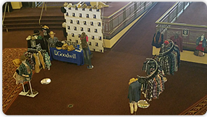 A good example of a pop-up shops of special merchandise collections at a concert.