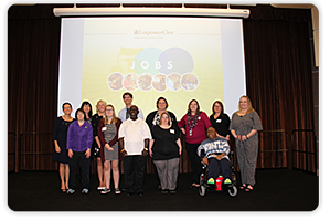 The EmpowerOne 500 Jobs Event was held at the Milwaukee County Zoo in October. It was a celebration of the number of individuals that have gained a job and independence through Goodwilll's Supported Employment and the EmpowerOne program.