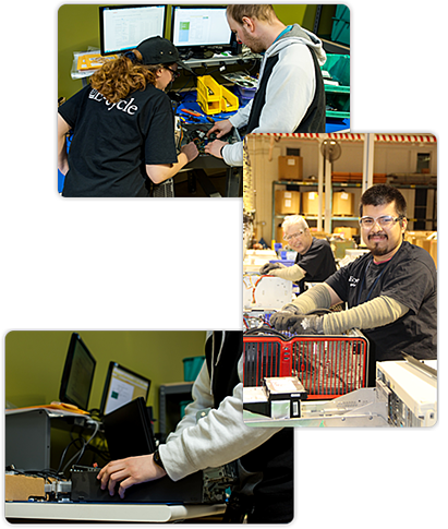 In that time, E-cycle has processed over seven million pounds of electronic equipment, making sure that all the material is properly handled and diverted from our landfill.