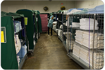 Goodwill Laundry & Linen Services processes over 14 million pounds of linen annually.