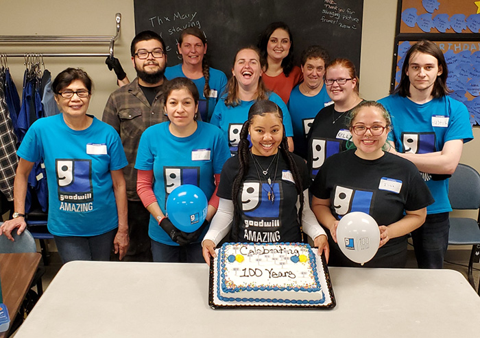 Goodwill Employees Celebrate Goodwill's 100th Birthday!