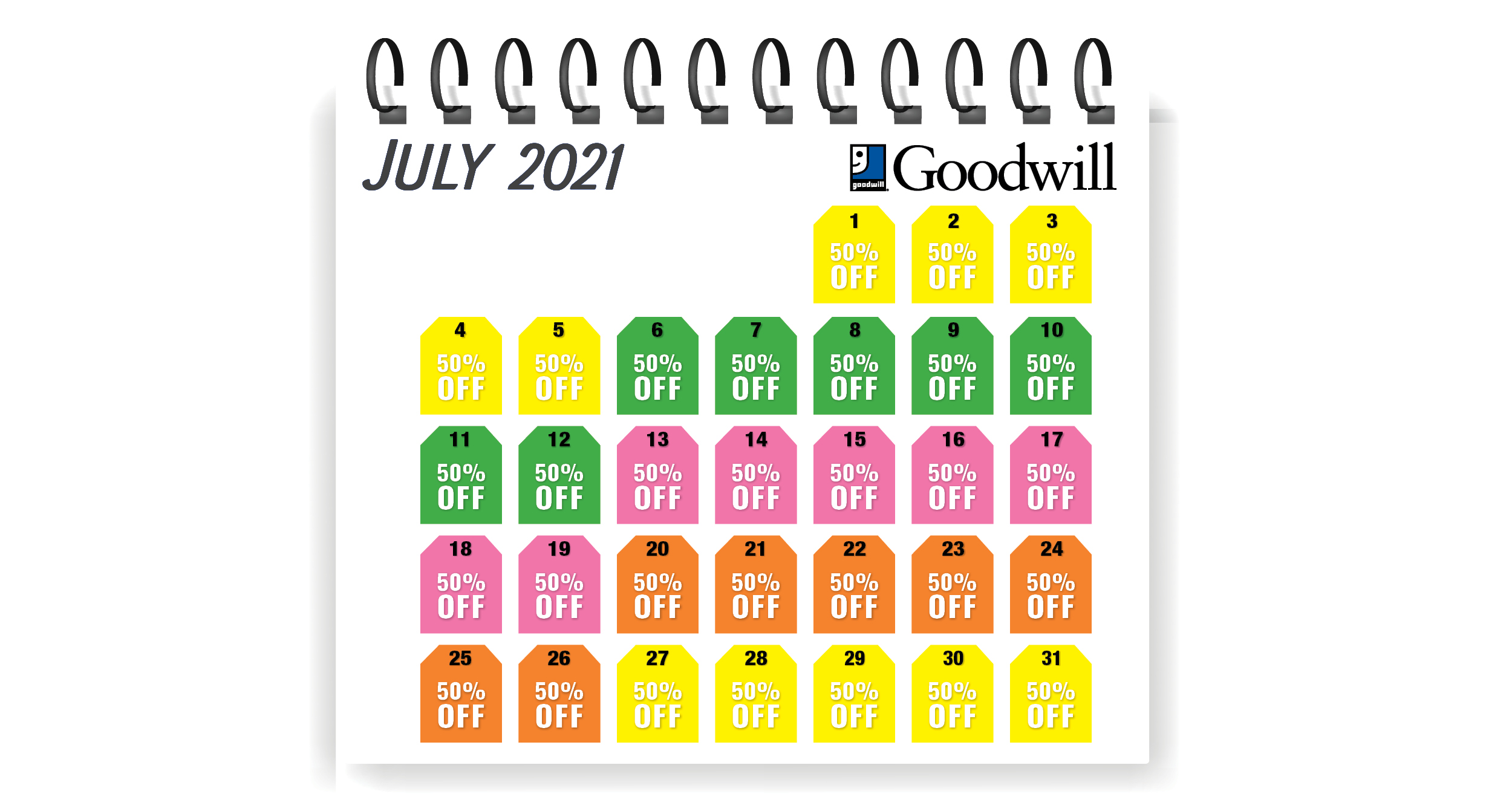 Calendar for Tag Sale_Jul21