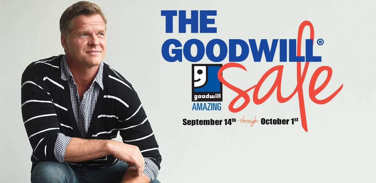 The Goodwill Sale is going on NOW!